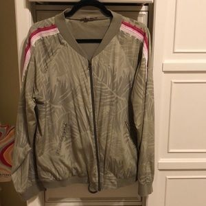 Calypso St Barth size large silk bomber jacket